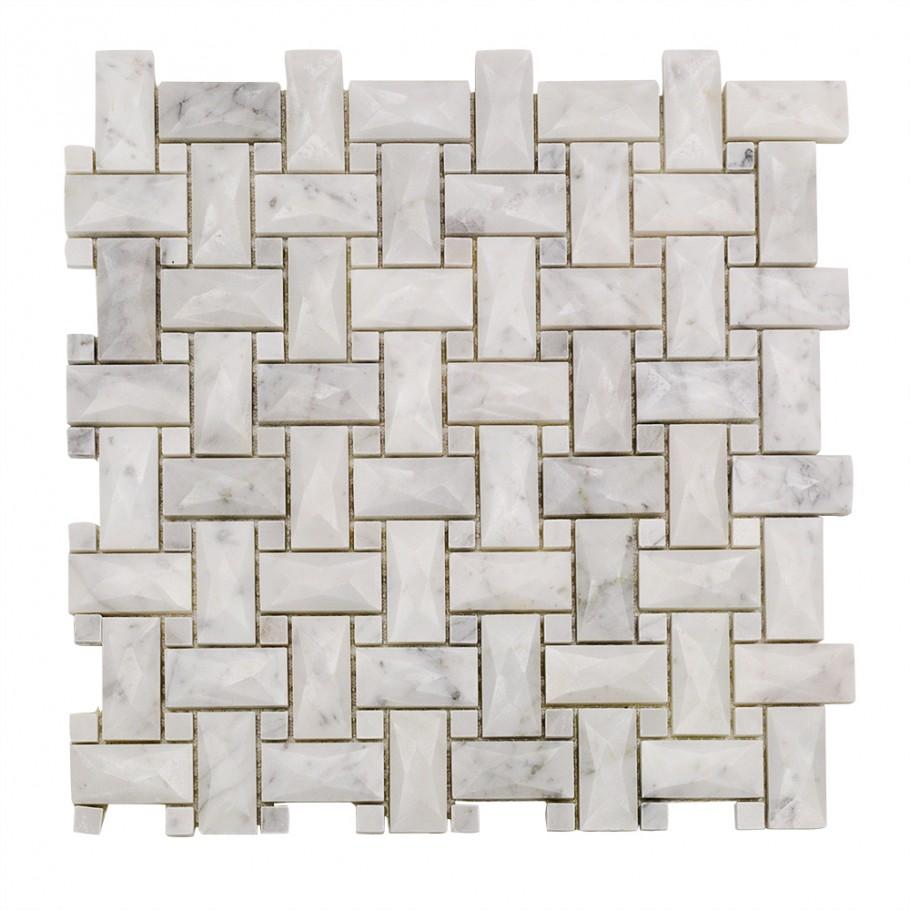 Dimension Weave White Carrara