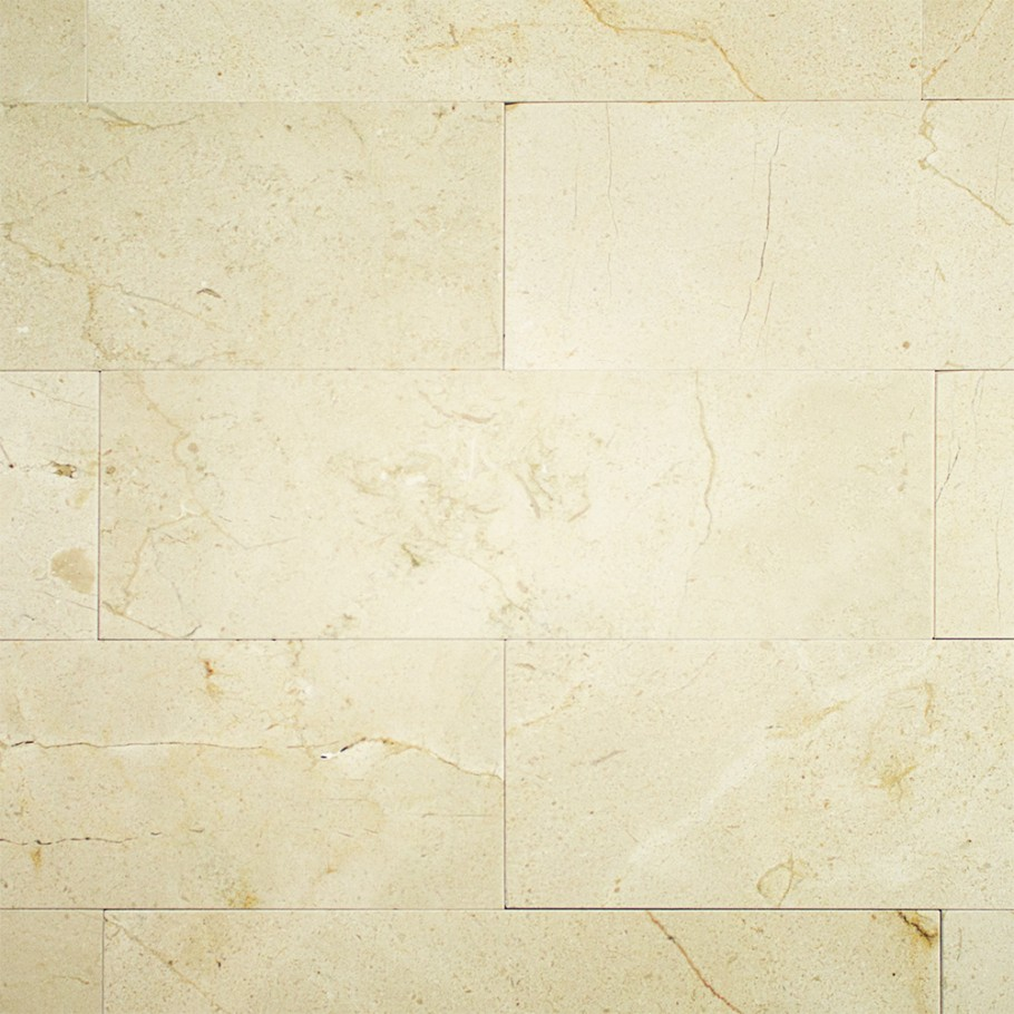 Crema Marfil 4x12 Polished Marble Tile Granite