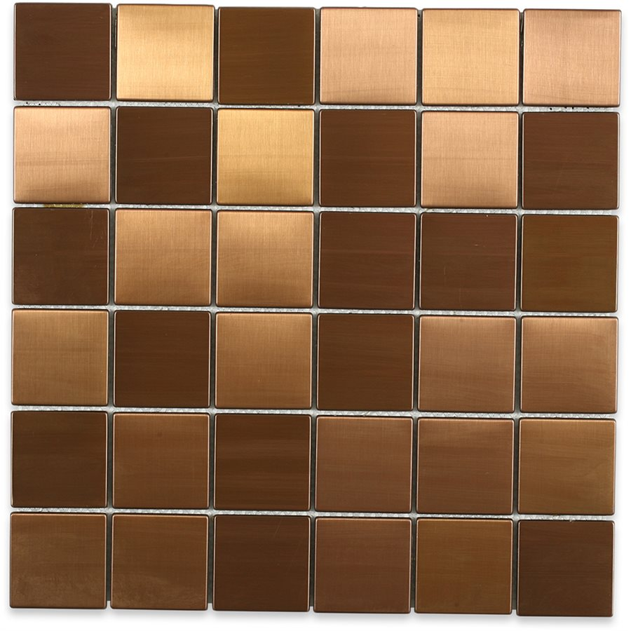 Metal Copper Matte 2x2 Squares Granite Countertops