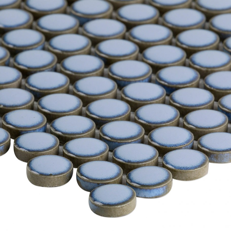 Simple Rimmed Penny Rounds Azure Granite Countertops